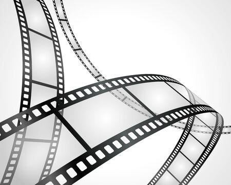 Blank film on white background vector illustration Çizim