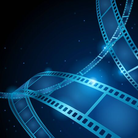 Roll film on shiny background vector illustration Vectores