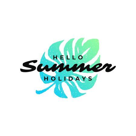 Typography summer holidays t-shirt design vector illustration.
