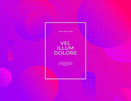 Modern abstract vector banner set flat liquid blob shapes ultraviolet colors