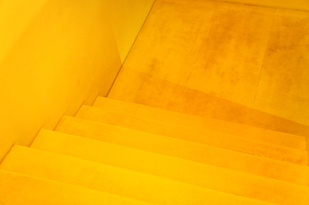 yellow staircase, yellow stairs, view from above