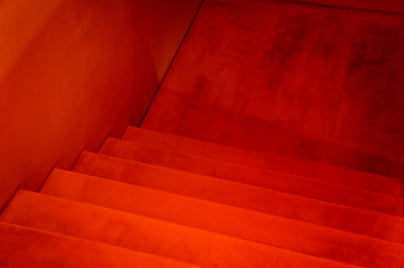 Red Staircase Red Stairs View From Above Stock Photo Picture And
