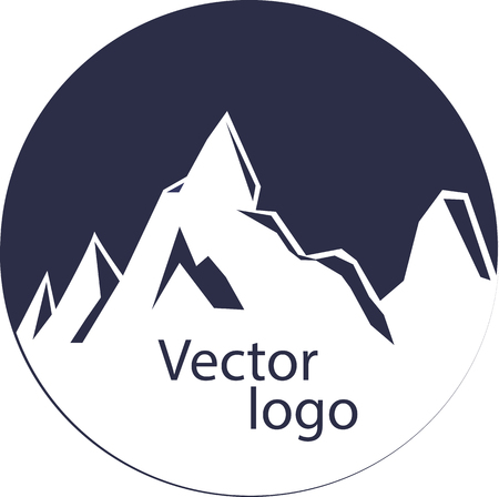 mount logo, symbol, emblem Webstylish blue vector mountain
