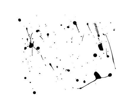vector splashes of blobs of drop, for decoration ink spots of paint