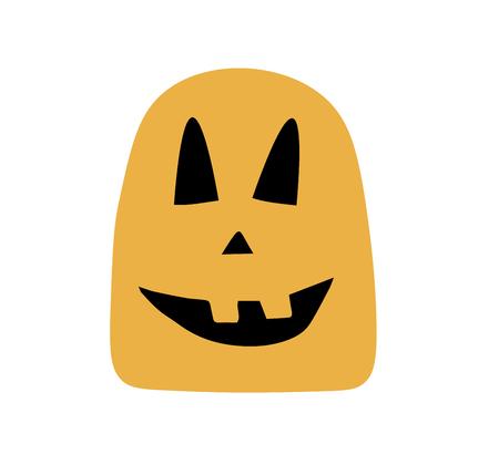 Vector illustration, cartoon characters for Halloween,Wear pumpkin costume,