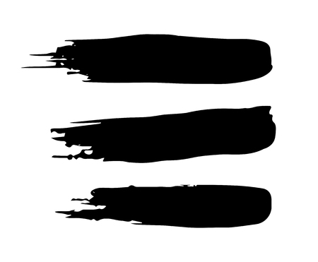 set of vector brush strokes for decor and logo.Set of grunge brush strokes
