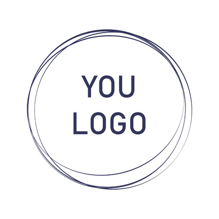 Label, design element, frame. elegant logo circles. fashion logo design. abstract circle line shape illustration. Hand drawn circle shape.
