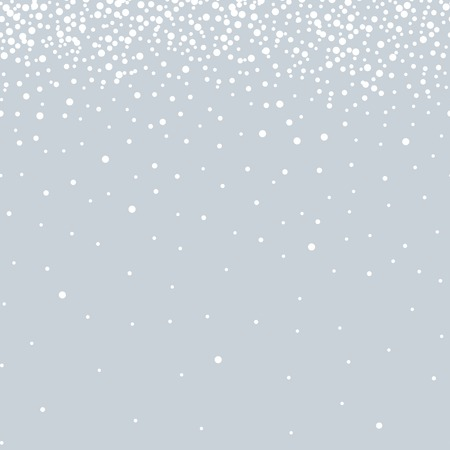 Winter blue background with snowflakes. Christmas decoration and design. snow seamless pattern. postcard vector illustration.