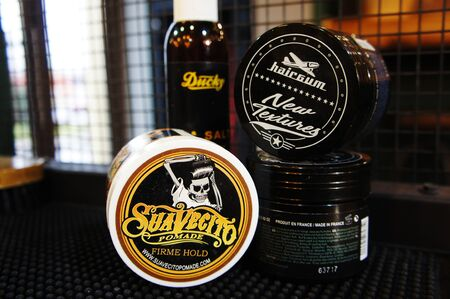 pomade strong firme hold. trendy barbershop styling. gel for male styling - SuaVecito, hairgum, ducky.
