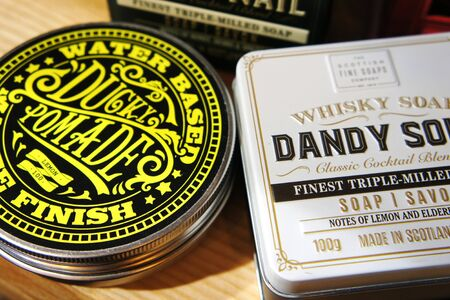 dandy sour and rusty nail. Whisky Cocktail Soaps in a Tin. Scottish Fine Soaps. ducky pomade