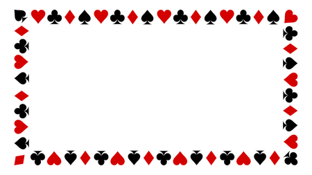 playing card suits isolated on white background. Frame of card suits. Zdjęcie Seryjne - 122946350