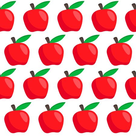 seamless vector pattern with red apples autumn pattern. Cute apple pattern.