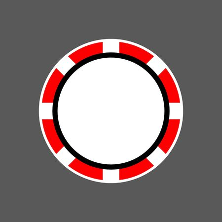 top view. casino chips. vector poker chip icon