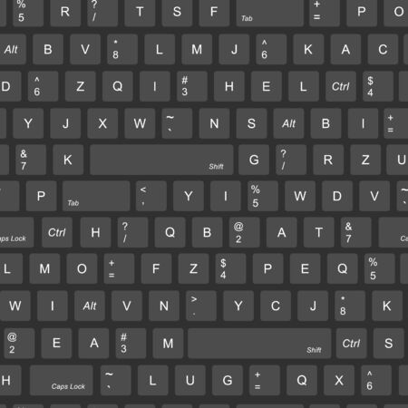Abstract vector pattern texture seamless background. gray buttons, keyboard. computer keyboard background seamless