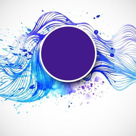 Watercolor wave background. Vector illustration Zdjęcie Seryjne - 36843829