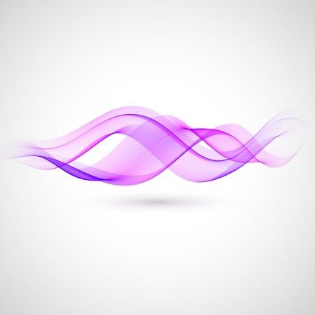 抽象的なバイオレット波のベクトルの背景。駆け抜けデザイン