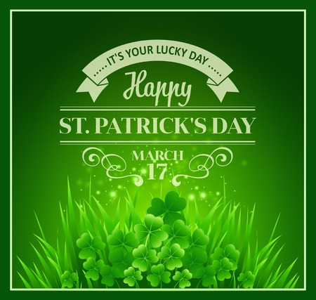 St. Patricks Day Background. Vector illustration  EPS 10 Illustration