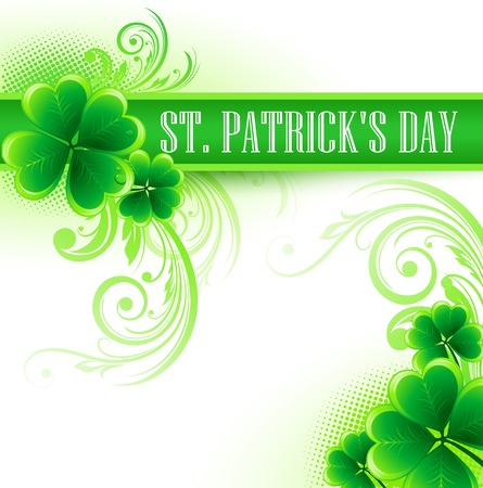 clover backdrop: St. Patricks Day Background. Vector illustration EPS 10 Illustration