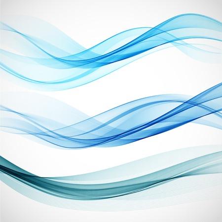 modrý: Smoke vlny pozadí. Vektorové ilustrace EPS 10