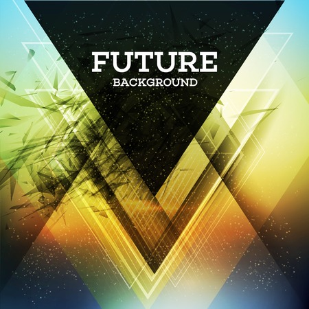 future concept: Abstract triangle future vector background  EPS 10 Illustration
