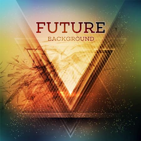 retro future: Abstract triangle future vector background  EPS 10 Illustration