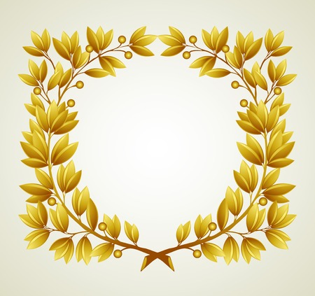 laurel branch: Laurel branch wreath. Vector illustration  EPS 10