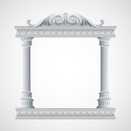 templo romano: Pórtico un templo antiguo. Columnata. Ilustración del vector EPS 10