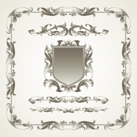antiquated: Antiquated ornate patterns. Vector illustration EPS 10 Illustration