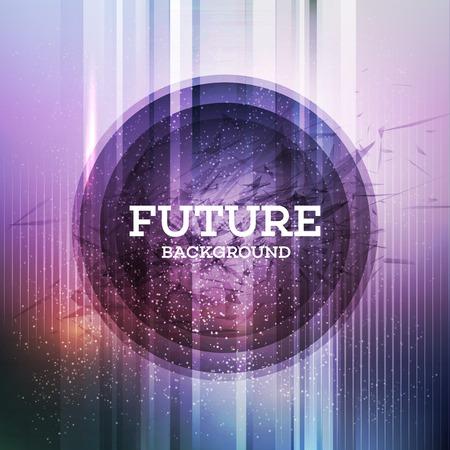 円形の未来的な背景。ベクトル イラスト EPS 10
