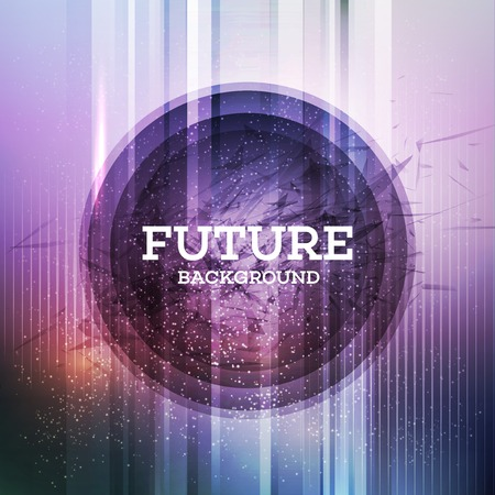 Circular futuristic background. Vector illustration EPS 10 Illustration
