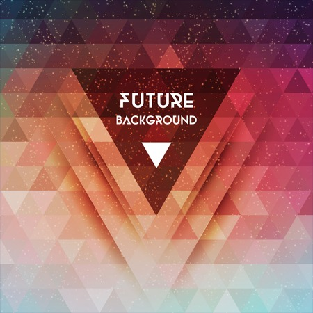 digital illustration: Abstract future vector background with triangle shapes Illustration