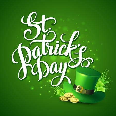 St. Patricks Day greeting. Vector illustration EPS10 Vector
