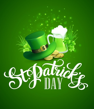 st patrick: St. Patricks Day greeting. Vector illustration EPS10