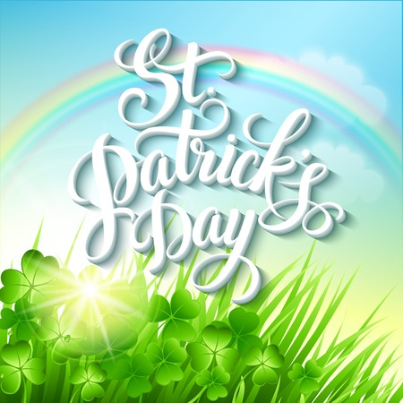 leprechaun background: St. Patricks Day poster. Vector illustration EPS 10 Illustration