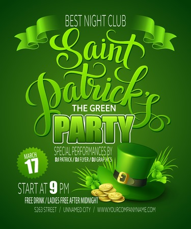 St. Patricks Day poster. Vector illustration EPS10