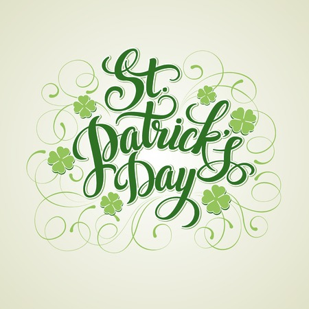 St. Patricks Day greeting card. Vector illustration EPS 10 Vectores