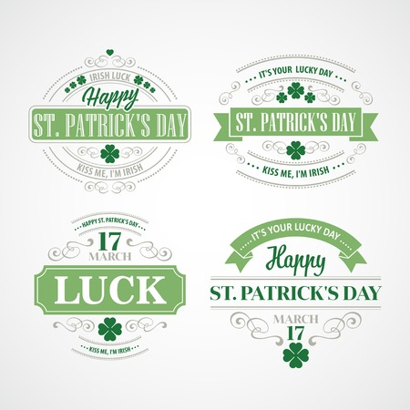 Typography St. Patricks Day. Vector illustration EPS 10 Illustration