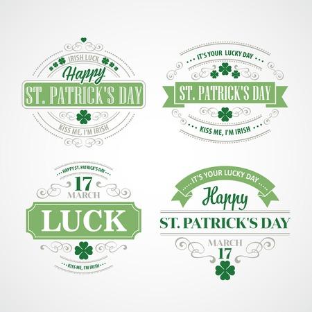 Tipografía St. Patricks Day. Ilustración del vector EPS 10 Foto de archivo - 36876832