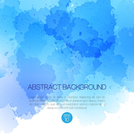 Abstract vector background with watercolor splash. EPS 10 Çizim