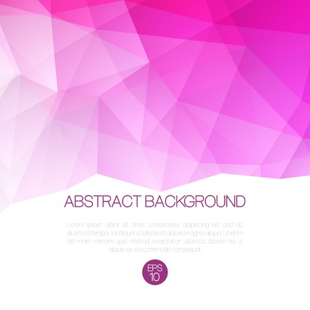 Abstract vector low poly background. Template brochure design.