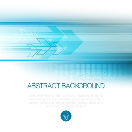 Vector abstracte technologie achtergrond met lijnen en pijl. EPS 10