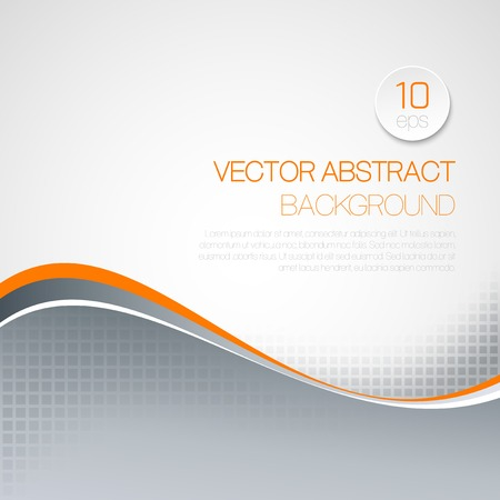 blue wave: Vector abstract  wavy technical background. Brochure design