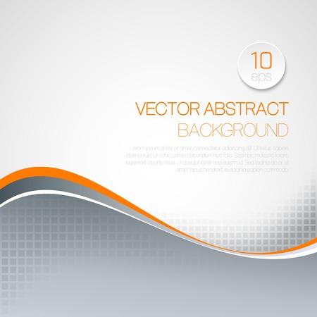 elegant wave: Vector abstract  wavy technical background. Brochure design