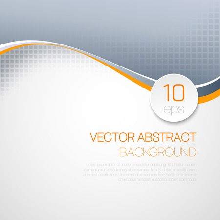 Vector abstract  wavy technical background. Brochure design