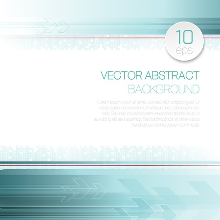 abstract line: Vector abstract technology background with lines and arrow. EPS 10