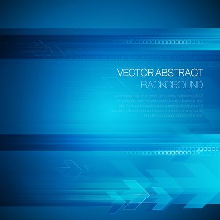 Vector abstrakte Technologie Hintergrund mit Linien und Pfeil. EPS 10 Standard-Bild - 36877356