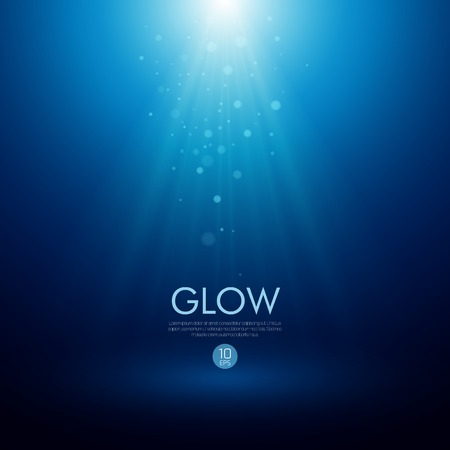 Blue abstract Vector background with a glowing effect Illustration