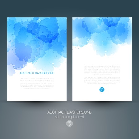 Abstract vector background with watercolor splash. EPS 10 Иллюстрация