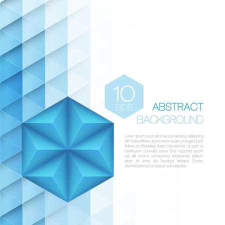 pentagon: Abstract 3d triangular background. Vector illustration