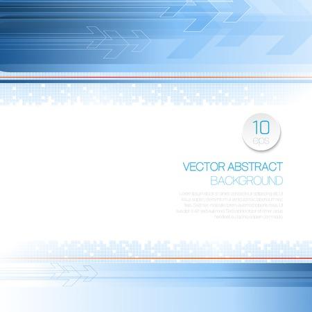 Vector tecnologia sfondo astratto con linee e frecce. EPS 10
